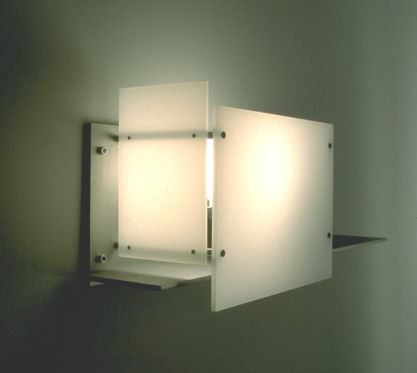 Wall Sconce - steel and Plexiglas