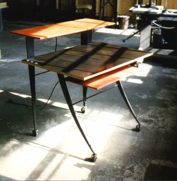 Computer Lab Table - steel and Finland birch plywood